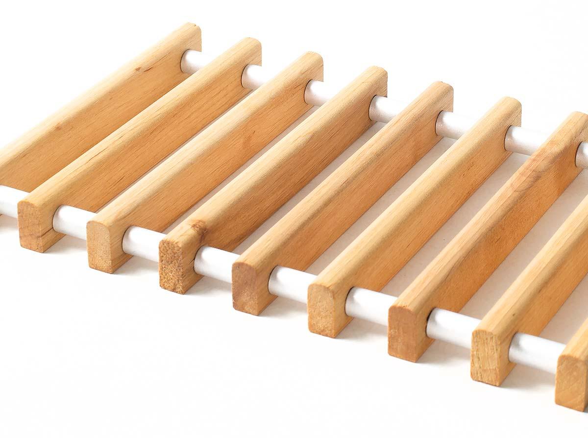 Рулонная решетка из массива березы - стандартная набивка
