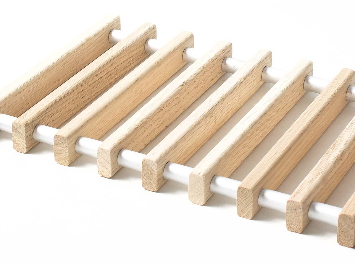 Рулонная решетка из массива дуба (под тонировку) - стандартная набивка