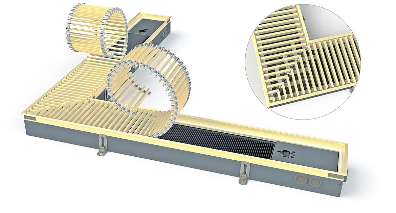 Угловой внутрипольный конвектор Dafa